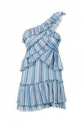 Vestido cruzado punto azul