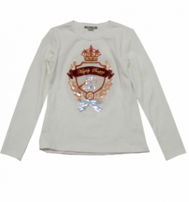 Camiseta escudo princess crudo