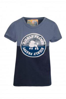 Camiseta circulo poodle marino