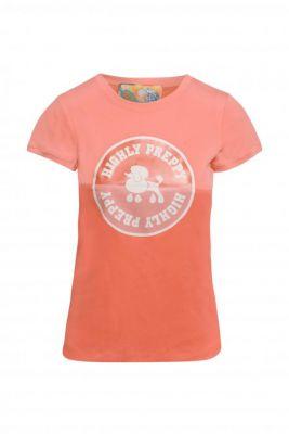 Camiseta círculo poodle salmón