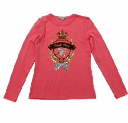 Camiseta escudo princess rosa