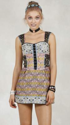 Vestido patchwork reves