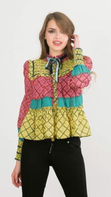 Blusa gomas tricolor amarillo