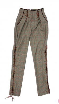 Pantalon amazona cuadros beige