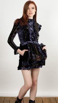 Vestido velvet rongean