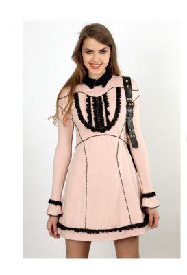 Vestido punto roma rosa