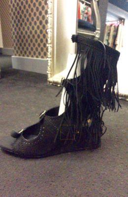 Sandalia flecos cuna negra