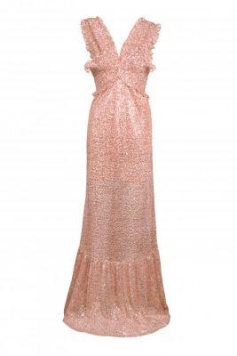 Vestido lentejuelas  largo rosa